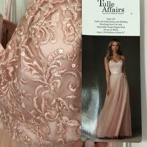 NWT Blush Pink Mori Lee Sz 6 Gown